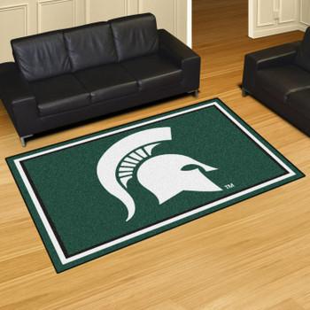 5' x 8' Michigan State University Green Rectangle Rug