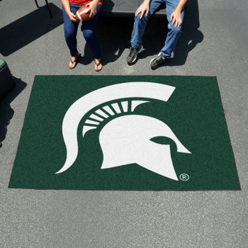 "59.5"" x 94.5"" Michigan State University Green Rectangle Ulti Mat"