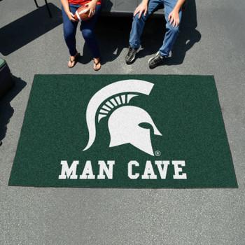 "59.5"" x 94.5"" Michigan State University Man Cave Green Rectangle Ulti Mat"