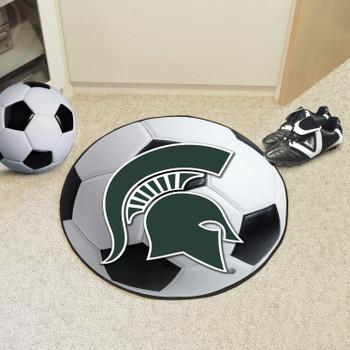 "27"" Michigan State University Soccer Ball Round Mat"