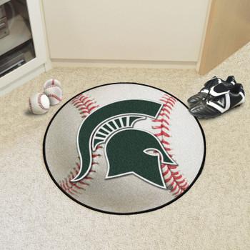 """27"""" Michigan State University Baseball Style Round Mat"""