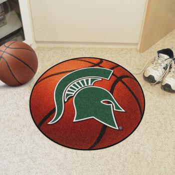 """27"""" Michigan State University Basketball Style Round Mat"""