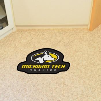 "Michigan Tech University Mascot Mat - ""Husky"" Logo & Wordmark"