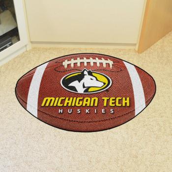 "20.5"" x 32.5"" Michigan Tech University Football Shape Mat"