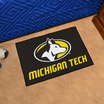 "19"" x 30"" Michigan Tech University Black Rectangle Starter Mat"