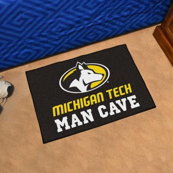 "19"" x 30"" Michigan Tech University Man Cave Starter Black Rectangle Mat"