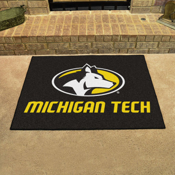 "33.75"" x 42.5"" Michigan Tech University All Star Black Rectangle Mat"