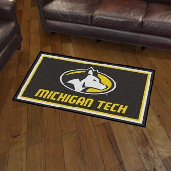 3' x 5' Michigan Tech University Black Rectangle Rug