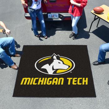 """59.5"""" x 71"""" Michigan Tech University Black Tailgater Mat"""