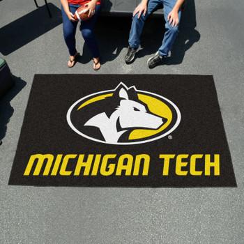 "59.5"" x 94.5"" Michigan Tech University Black Rectangle Ulti Mat"