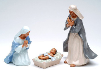 African American Holy Family Porcelain Sculptures, Set of 3