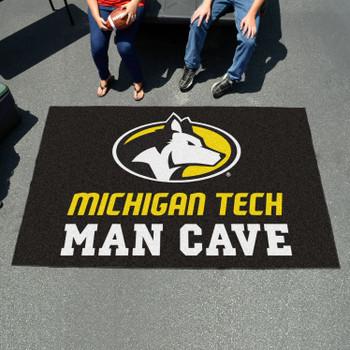 "59.5"" x 94.5"" Michigan Tech University Man Cave Black Rectangle Ulti Mat"