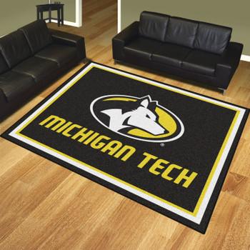 8' x 10' Michigan Tech University Black Rectangle Rug