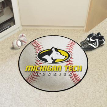 """27"""" Michigan Tech University Baseball Style Round Mat"""
