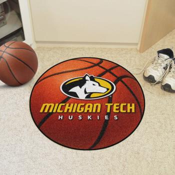 """27"""" Michigan Tech University Basketball Style Round Mat"""