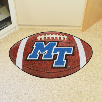 "20.5"" x 32.5"" Middle Tennessee State University Football Shape Mat"