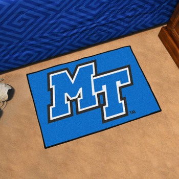 "19"" x 30"" Middle Tennessee State University Blue Rectangle Starter Mat"