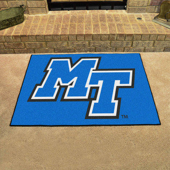 "33.75"" x 42.5"" Middle Tennessee State University All Star Blue Rectangle Mat"