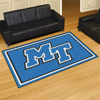 5' x 8' Middle Tennessee State University Blue Rectangle Rug