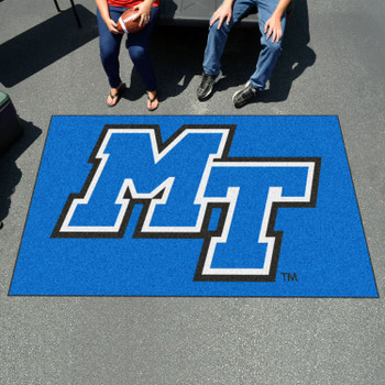 "59.5"" x 94.5"" Middle Tennessee State University Blue Rectangle Ulti Mat"