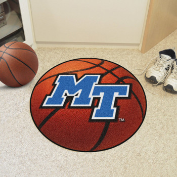 "27"" Middle Tennessee State University Basketball Style Round Mat"