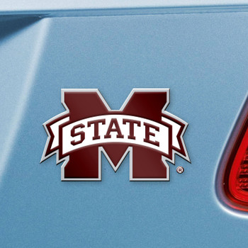 Mississippi State University Maroon Color Emblem, Set of 2