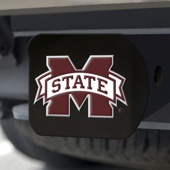 Mississippi State University Hitch Cover - Color on Black