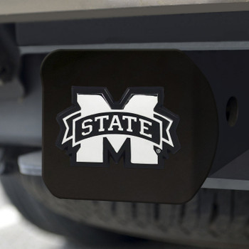 Mississippi State University Hitch Cover - Chrome on Black