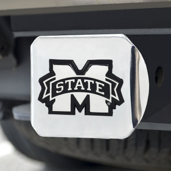 Mississippi State University Hitch Cover - Chrome on Chrome
