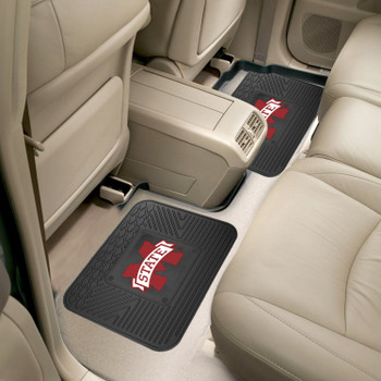 Mississippi State University Heavy Duty Vinyl Car Utility Mats, Set of 2