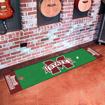 "18"" x 72"" Mississippi State University Putting Green Runner Mat"
