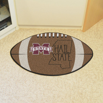 "20.5"" x 32.5"" Mississippi State University Southern Style Football Shape Mat"
