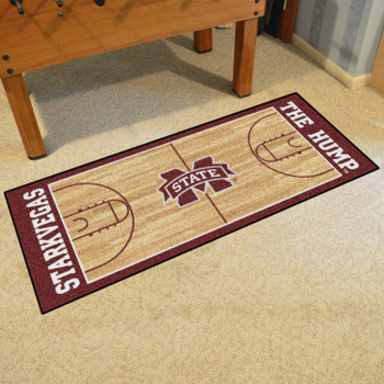 "30"" x 72"" Mississippi State University NCAA Basketball Rectangle Runner Mat"