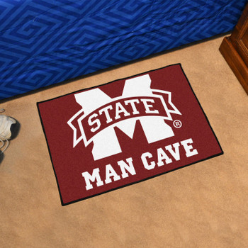 "19"" x 30"" Mississippi State University Man Cave Starter Maroon Rectangle Mat"
