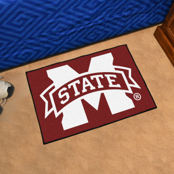 "19"" x 30"" Mississippi State University Maroon Rectangle Starter Mat"