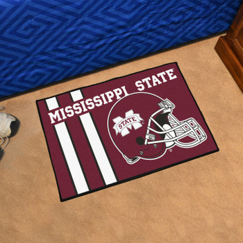 "19"" x 30"" Mississippi State University Uniform Maroon Rectangle Starter Mat"