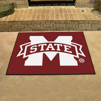 "33.75"" x 42.5"" Mississippi State University All Star Maroon Rectangle Mat"