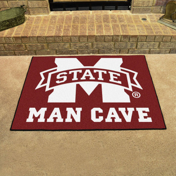 "33.75"" x 42.5"" Mississippi State University Man Cave All-Star Maroon Rectangle Mat"