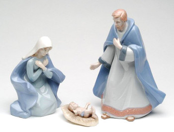 Holy Family Porcelain Sculptures, Set of 3