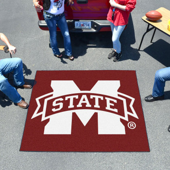 "59.5"" x 71"" Mississippi State University Maroon Tailgater Mat"