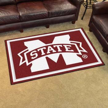 5' x 8' Mississippi State University Maroon Rectangle Rug