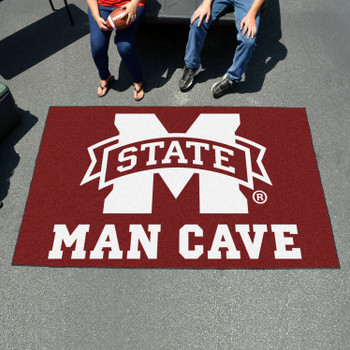 "59.5"" x 94.5"" Mississippi State University Man Cave Maroon Rectangle Ulti Mat"
