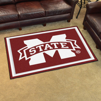 8' x 10' Mississippi State University Maroon Rectangle Rug