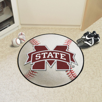 "27"" Mississippi State University Baseball Style Round Mat"