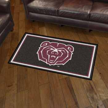 3' x 5' Missouri State University Black Rectangle Rug