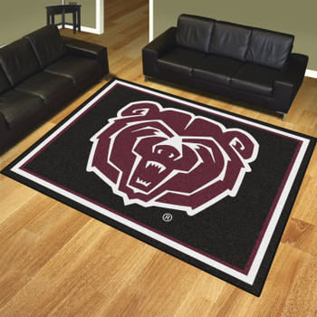 8' x 10' Missouri State University Black Rectangle Rug