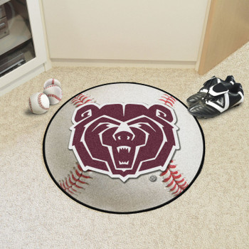 """27"""" Missouri State University Baseball Style Round Mat"""