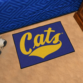 "19"" x 30"" Montana State University Fighting Bobcats Blue Rectangle Starter Mat"