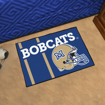 "19"" x 30"" Montana State University Uniform Blue Rectangle Starter Mat"