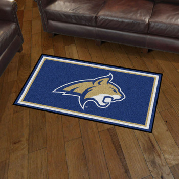 3' x 5' Montana State University Blue Rectangle Rug